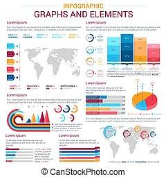 infographic, 图表, 元素, 设计, 图表