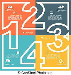 infographic, 報告, 樣板, layout., 矢量, illustration.