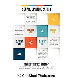 infographic, 広場, の上