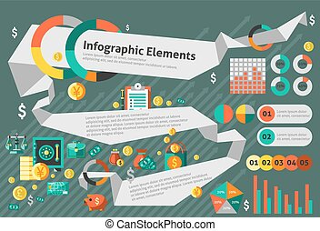 infographic, 放置, 财政