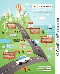 infographic, 概念, エコロジー, テンプレート