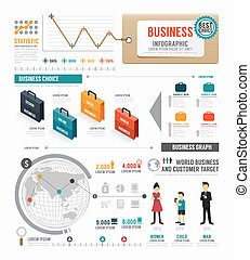 infographic, 概念, ビジネス, ベクトル, デザイン, il, テンプレート, 世界