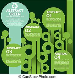 infographic., 概念, 緑