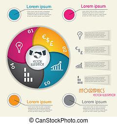 infographic, 現代, デザイン, ビジネス, テンプレート