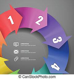 infographic, 現代, 顏色計划, 樣板