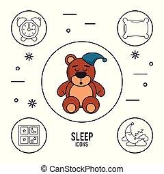 infographic, 甘い, よい, 睡眠, 夢