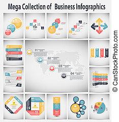 infographic, 矢量, 事務, 樣板, 插圖