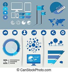 infographic, 矢量, 元素