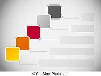 infographic, 矢量, 商业, 样板, 描述