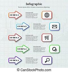 infographic, 箭
