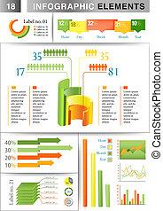 infographic, 表达, 样板
