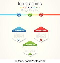 infographic, 要素, illustration., ビジネス, プロセス, 部分, オプション, あなたの, 3, ベクトル, デザイン, ステップ, ∥あるいは∥