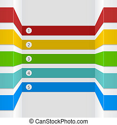 infographic, 選択, ストライプ, ベクトル, デザイン, template., 3d