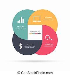 infographic, 項目, 現代的商務