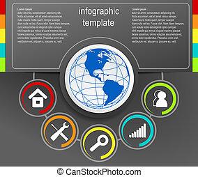 infographic, 黑色, 矢量, 設計, 背景