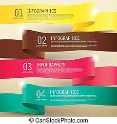 infographic, 3d, éléments, étiquette