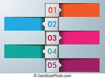 infographic, 5, čtverhran, grafické pozadí