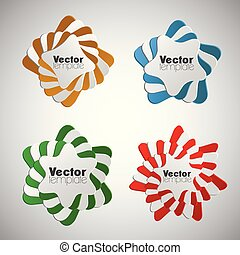 infographic, abstract, vector, communie