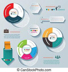 infographic, affari, moderno, vettore, disegno, sagoma, tuo