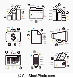 infographic, affari