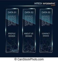 infographic, baner, high tech