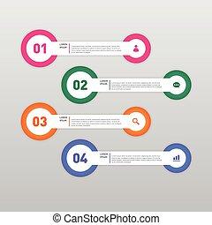 Infographic banner template design element vector illustration