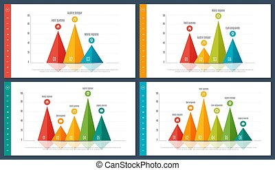 Infographic bar chart templates with 3 4 5 6 options