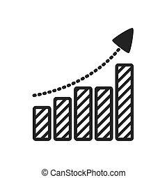 infographic, barres, graphique, vecteur, flèche, icon.