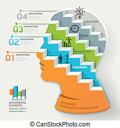 infographic., begrepp, affär