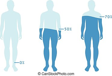 infographic, body., esposizione, livello, illustrazione, acqua, balance., vettore, umano, percentuale