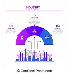 infographic, business, graphique, plan, diagramme, option, usine, diagramme, analytics, industriel