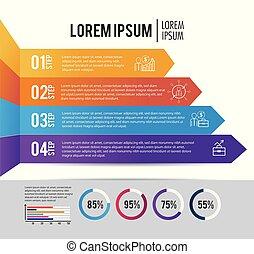 infographic business information with lorem ipsum vector...