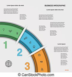Infographic business process or workflow for project and...