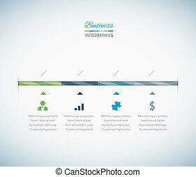 Infographic business timeline with