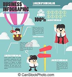 infographic businessman concept to success eps.10