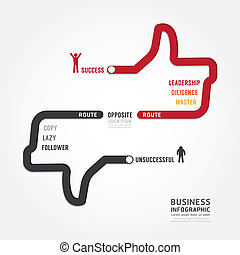 Infographic bussiness. route to success concept template design