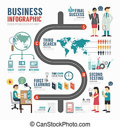 Infographic bussiness template design . concept vector...