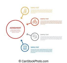 infographic, cartaz, vetorial, acordo, ilustração