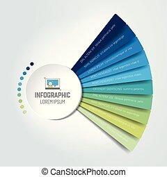 infographic, cerchio, grafico, scheme.