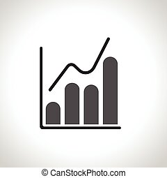 Infographic. Chart icon. Growing graph symbol.