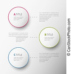 infographic circles 3 options