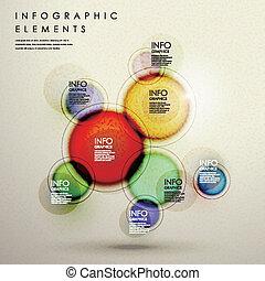 infographic, cirkel, communie, kleurrijke, creatief