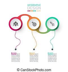 infographic, cirkel, vector, etiket, art.
