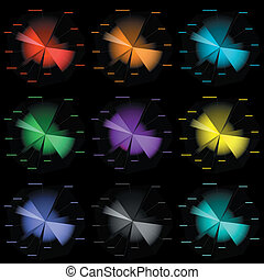 infographic color diagram templates