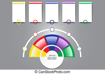 Infographic colorful labels with a free place for your text