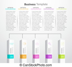 Infographic Columns Vector illustration