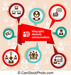 infographic, communication, concept
