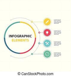 infographic, communie, abstract, opties, vier, vector, cirkel, beeld