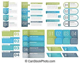 infographic, communie, met, getallen