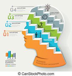 infographic., conceito, negócio
